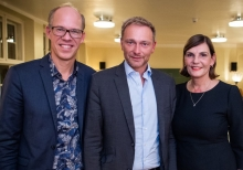 Christian Lindner zu Gast beim news aktuell Dinner-Talk in Berlin (FOTO)